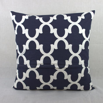 SALE END SOON Navy Blue Pillow Cover  - Navy Blue Accent Pillow Cover-Pillows for couch 0011