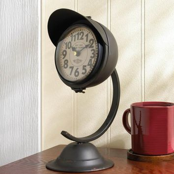 VINTAGE BLACK STANDING DESK CLOCK