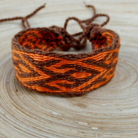 Table weaving bracelet, card weave cotton braclet, woven men bracalet, weaved medieval wrist band, hipster arm band, handmade boho jewelry