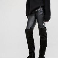 ASOS KIMARI Suede Western Over The Knee Boots at asos.com