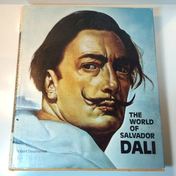 The World of Salvador Dali Hardcover Art Book Published 1962 Robert Descharnes 1st Edition Atide 150 Images History Surrealist Surrealism