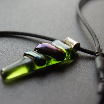 Recycled Wine Bottle (Glass Fused) Necklace