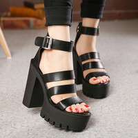 Ankle Strap Heel Wedges