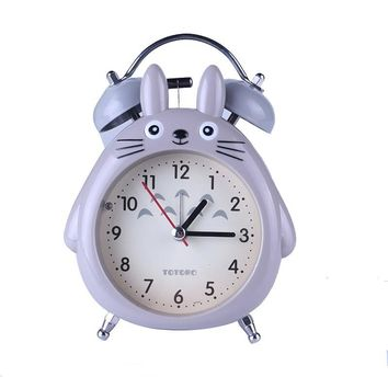 Cute Home Decor TOTORO Quartz Table Clock Bed Room Clock Alarm Clock Snooze  LED Light Mute Alarm ClocksKawaii Pokemon go  AT_89_9