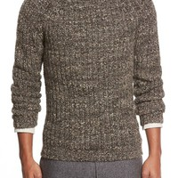 Men's Billy Reid Shaker Stitch Raglan Sweater,