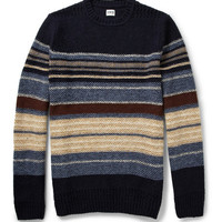 Edwin Docker Striped Wool-Blend Sweater | MR PORTER