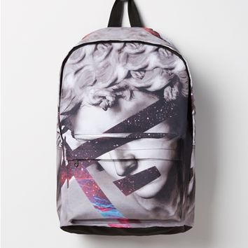 Marble Statue Canvas Backpack