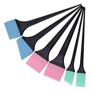 6pcs/set Hair Dyeing Brushes Spatula Coloring Comb Kit Set Hair Mixing Color Stirrer Scraping Comb Pro Salon Barber Styling Tool