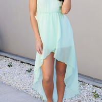 Chiffon Maxi Dress - Mint