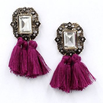 Marie Tassel Statement Earrings