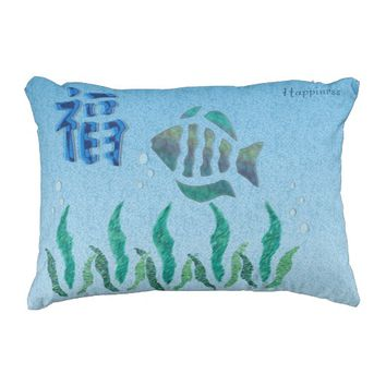 Outdoor Pillow - Happy Fish