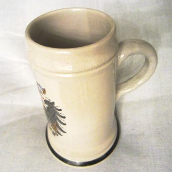 Handmalerei Original King Austria Hand Painted Bisque Luster Mug