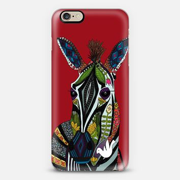 zebra love red iPhone 6 case by Sharon Turner | Casetify