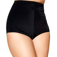 Black High Waisted Hot Pants : Summer Ravewear Shorts from Roma Costumes and Outfits
