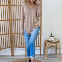 Perfect V Neck - Taupe