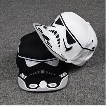 New 2016 Fashion Cotton Brand Star Wars Snapback Caps Cool Strapback Letter Baseball Cap Bboy Hip-hop Hats For Men Women