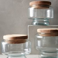 Pedestal Bistro Jar by Anthropologie Neutral
