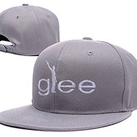 BARONL Glee Silhouetee Adjustable Embroidery Snapback Hat Cap - Grey