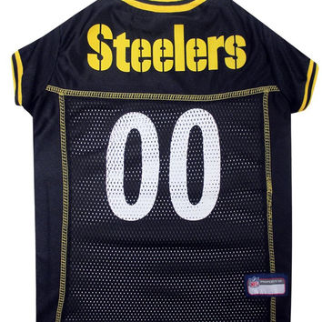 Pittsburgh Steelers Dog Jersey - Yellow Trim Xtra Small