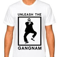 "Gangnam Style Shirts - ""Unleash the Gangnam"" - Men's Neon Tanks and Tees - Bad Kids Clothing – Bad Kids Clothing"