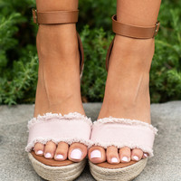 Never Leaving You Wedges, Blush