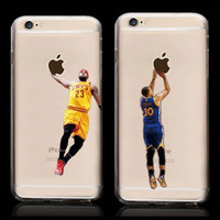 New Kobe Bryant Stephen Curry Michael Jordan LeBron James Basketball Hard Plastic Back Cover Case for iPhone 6 Plus 6s Plus