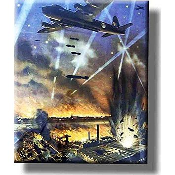 Bomber Plane War Picture on Stretched Canvas, Wall Art decor, Ready to Hang!