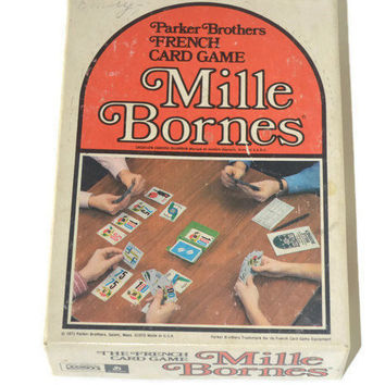 Vintage Mille Bornes 1971 Card Game Parker Brothers Games Inc No A13 French Family Game Race Automobile Play Cards