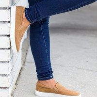Well Rounded Suede Sneaker - Camel