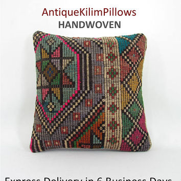 sofa pillow kilim pillow cover decorative pillow anatolian pillow throw pillow furniture accessory home decor 001147