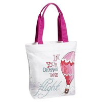 Inspirational Tote, Let Your Dreams Take Flight Graphic