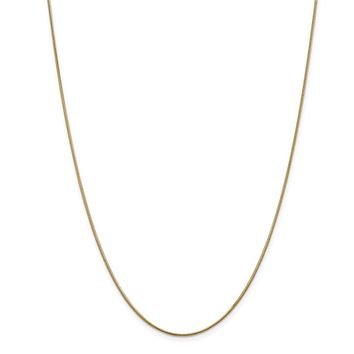 14K Yellow Gold 1.10mm Classic Round Snake Necklace - Fine Jewelry Gift