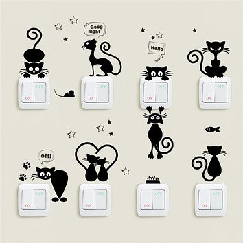 Cat Stickers for Light Switches, Tiles and Furnitures