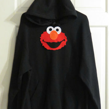 fc94abc73b6 Plus Size Sweatshirt... UniqueApplique UniqueApplique on Etsy  37.99. Womens  Elmo Hoodie. Juniors Elmo Shirt. Adult Elmo. Womens Hoodie. Elmo Applique