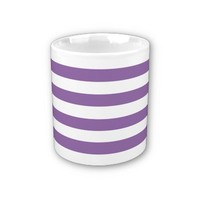 BellFlower Violet And White Stripes Coffee Mug from Zazzle.com