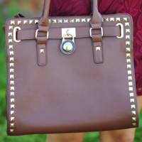 Locked Out Of Heaven Purse: Dark Brown | Hope's