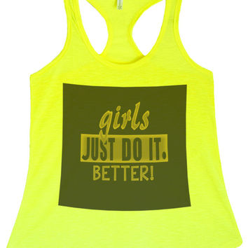 Women's PLUS Girls Just Do It Better  Printed Graphic Polyester Tank Top