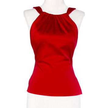 Pinup Couture Harley Top in Red