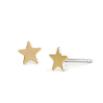 Kris Nations Star Stud Earrings Gold Plated & Sterling Silver