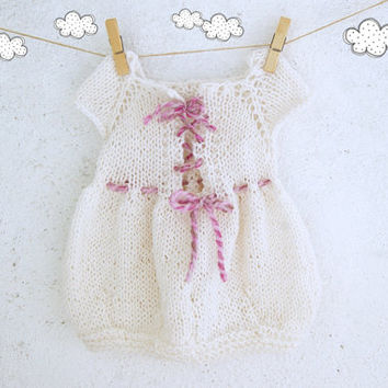 Baby knit dress 6 - 12 months / Tunic dress / Baby girl knitted dress / baby Shower gift