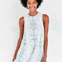 Silence + Noise Cobra Print Tee Dress - Urban Outfitters