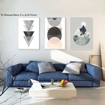 Simple Geometric Quote Canvas Painting Nordic Poster Wall Art Prints Scandinavian Decoration Modular Pictures Room decorative