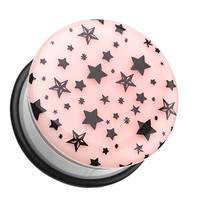 Glow in the Dark Multi Star Single Flared Ear Gauge Plug