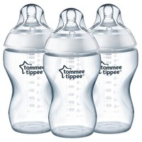 Tommee Tippee Closer To Nature Added Cereal Bottle 3pk 11oz - Clear