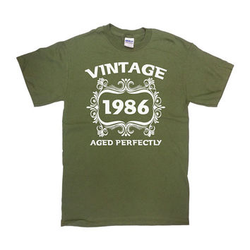 Funny Birthday Shirt Vintage 1986 (Any Year) 30th Birthday Shirt 30th Birthday Gift 30 Years Old Custom T Shirt Mens Ladies Tee - SA103