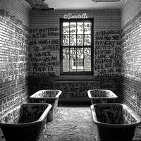 Abandoned Asylum - Manteno State Hospital, Manteno, Illinois - Black and White Photography Print 4x5, 8x10