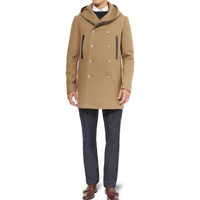 Balenciaga Wool-Blend Hooded Coat | MR PORTER