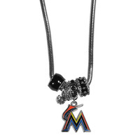 Miami Marlins Euro Bead Necklace