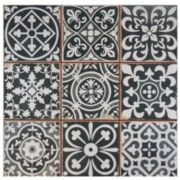 Merola Tile, Faenza Nero 13 in. x 13 in. Ceramic Floor and Wall Tile (12.2 sq. ft. / case), FPEFAEN at The Home Depot - Tablet