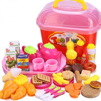 Cute Baby Kids Kitchen Living Toys Simulation Snack DIY Chef Cookware Sweet Storage Developing Toys